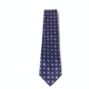V9 Verse 9 Men's Geometric Blue Neck Tie One Size
